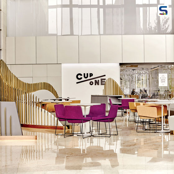 Designed by Ar. Jiang-Yuan & Song-Chen, CUPONE Gateway Plaza provides a place to drink coffee, while being an extremely functional art installation in itself.