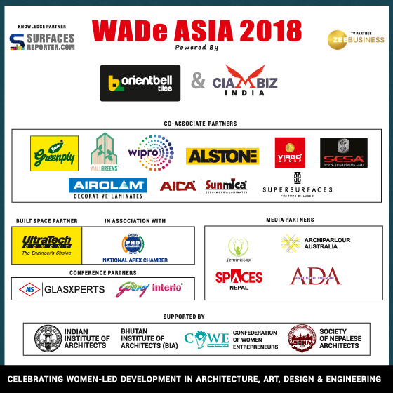 With the big triumph, we want to announce *Orient Bell and CIAMBIZ *as Top Associate Partners of WADe ASIA 2018, the biggest event in Asia celebrating Women-led Development in Architecture, Art and Design.