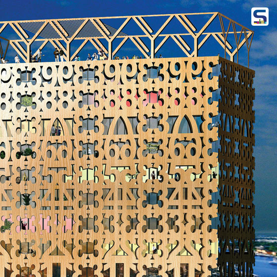 Facade with Cross Laminated Timber by Architect Anders Berensson