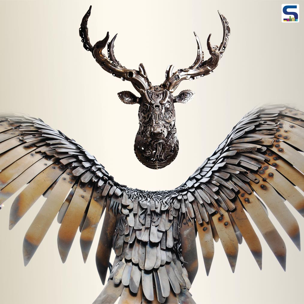 Recycled Metal Made into Art Sculptures