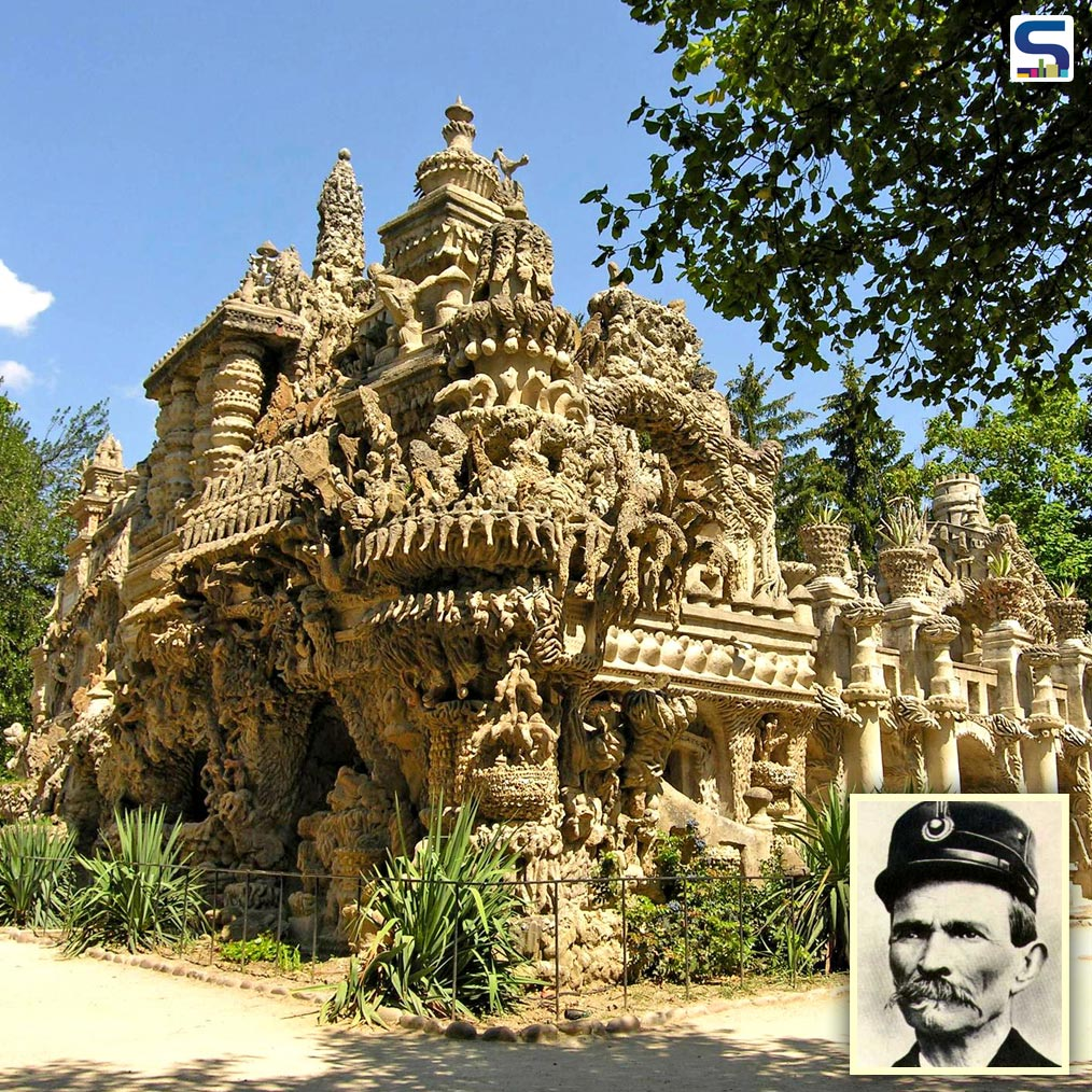 French Postman Spends 33 Years Building a Striking Palace with Stones He Collected During Work Route