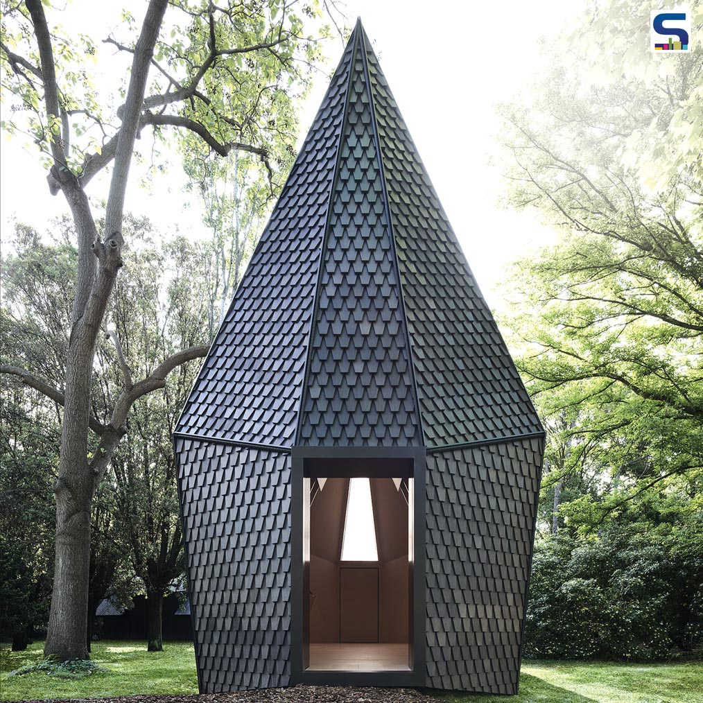 One of the installations at the Venice Biennale as part of the project Vatican Chappels was by ALPI one of the producers of the first Pavilion of the Holy See, Vatican Chapels, at Fondazione Cini on the Island of San Giorgio Maggio.