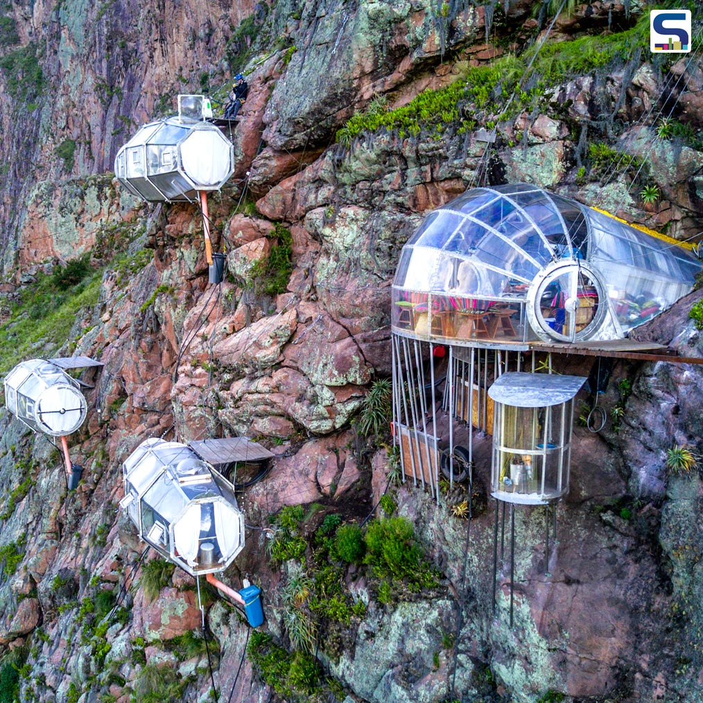 Precariously located on the side of a Peruvian mountain of Cuzco is The Natura Vive's Skylodge Peru- a spectacular and breathtaking glass hotel, built to give guests an enthralling experience