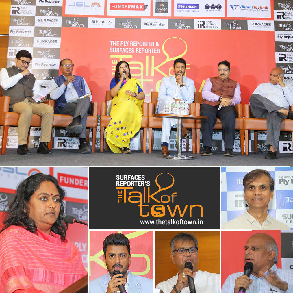 Surfaces Reporter- India's 1st magazine specialized on 'products & materials' for architecture & Interiors-and Ply Reporter- India's leading Ply magazine- have finished their 10th edition of the Talk of Town Event on 4th May 2019 at Hotel Renaissance, Ahmedabad.