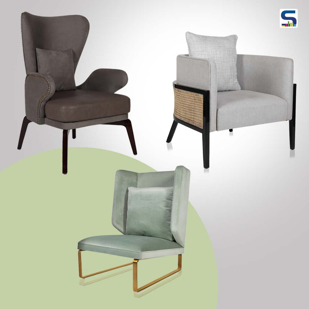 Find out the new collection of accent chairs unveiled by Nitin Kohli Home.