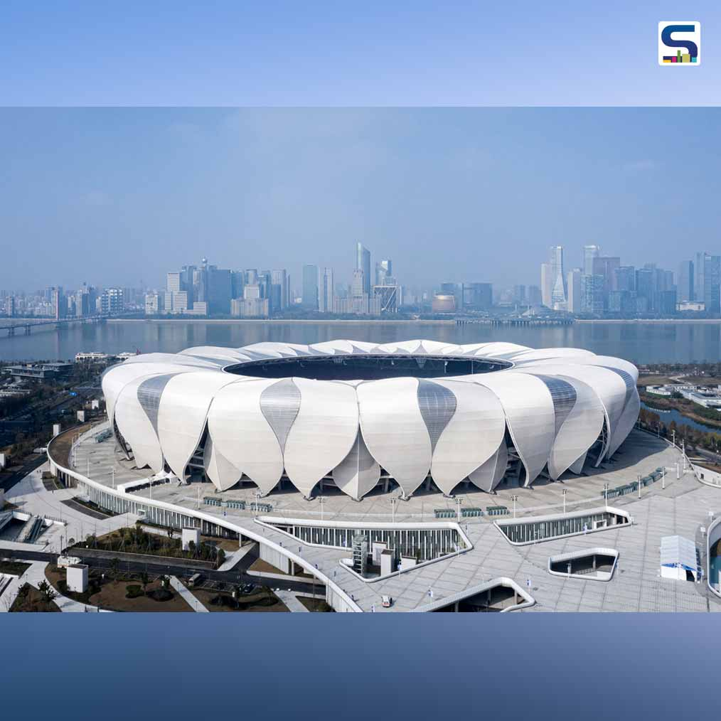 67% less Steel used in lotus inspired Hangzhou Olympic Stadium