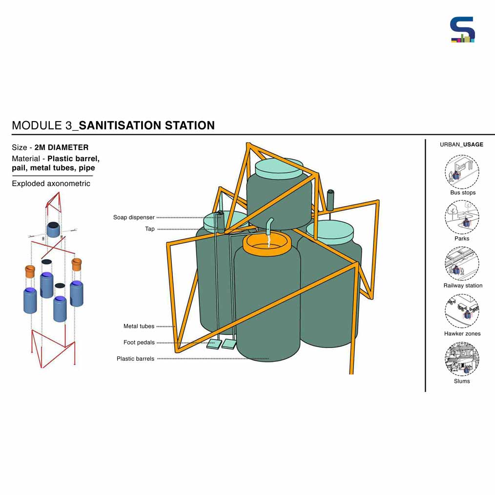 Sanitisation Station-Module 3 by Bandra Collective