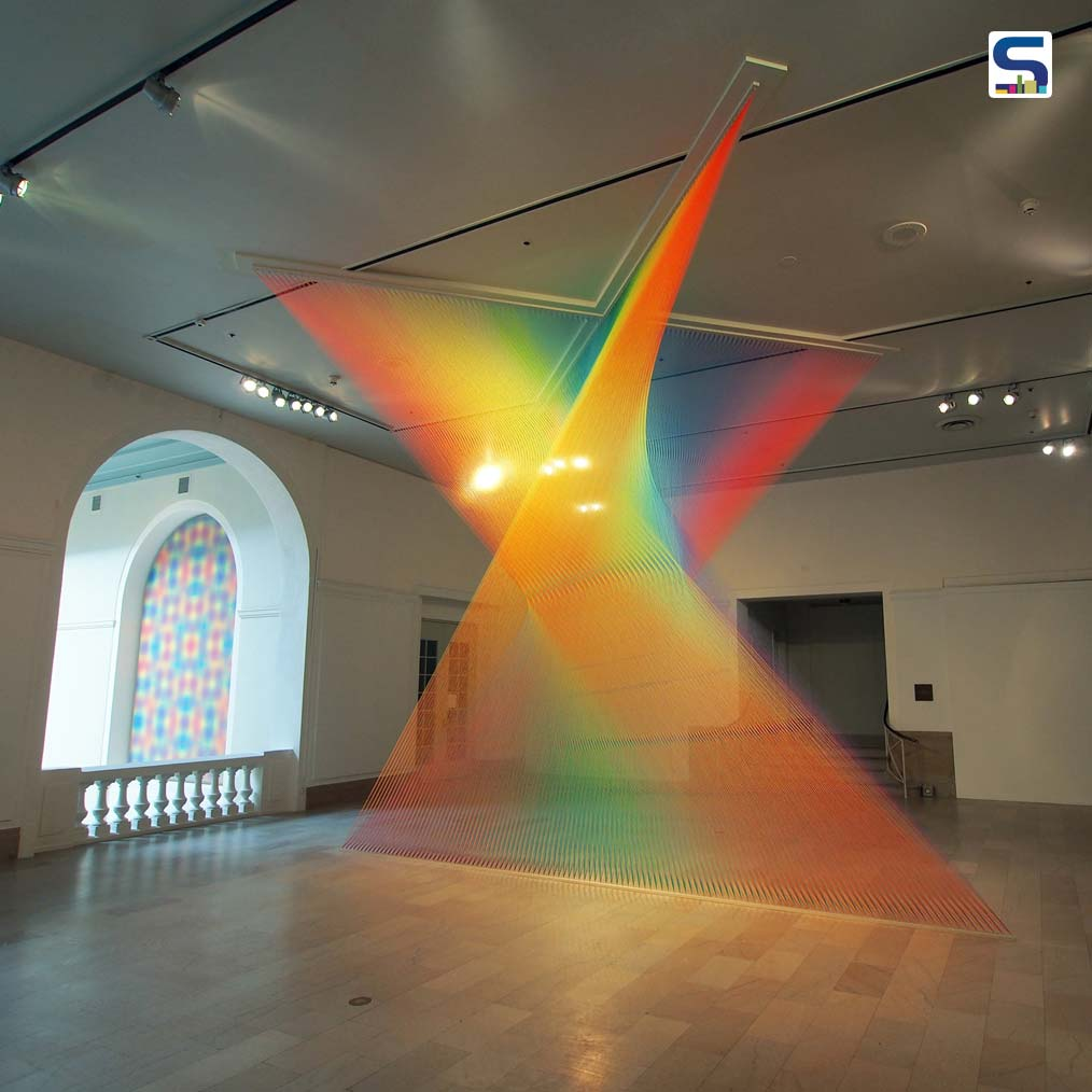 Mexican Artist Creates Beautiful Rainbow-Like Installations With Simple Thread