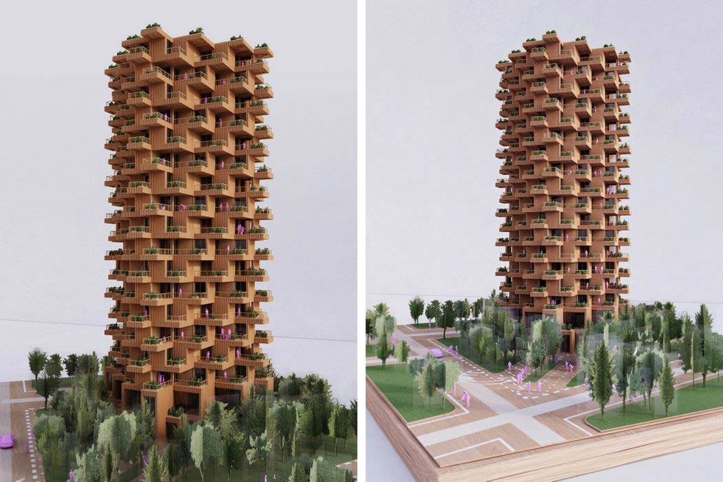 Wooden Wrapped Facade Panels