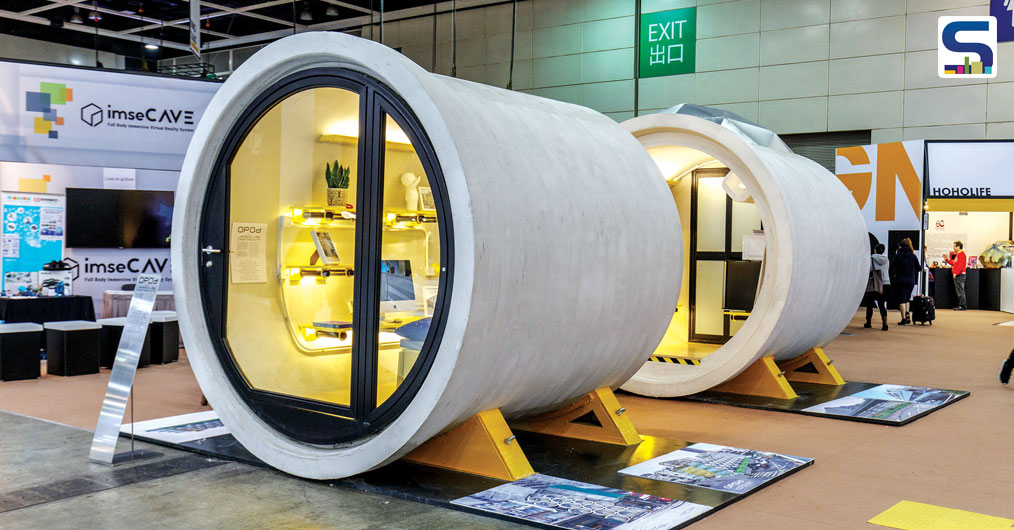 The OPod Tube House, conceived by James Law Cybertecture, is an experimental low cost, micro-living housing unit constructed out of a 2.5 meters diameter concrete water pipe.