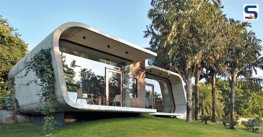 Conceived as a 'pebble in the grass', this house acts as an extended entertainment center to a previously existing home.