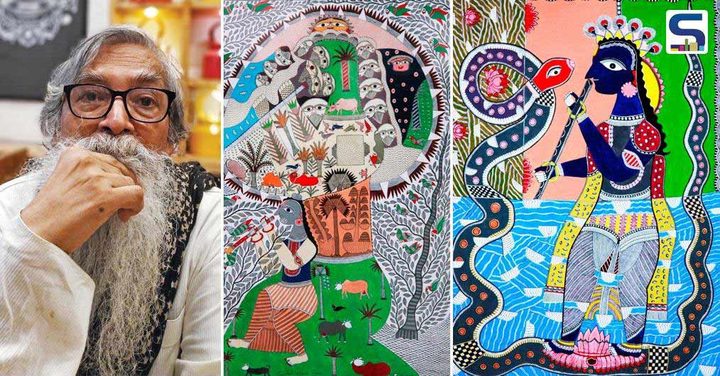 The solo show of famous Mithila artist Santosh Kumar Das presented by Anubhav Nath, Curatorial Director of Ojas Art