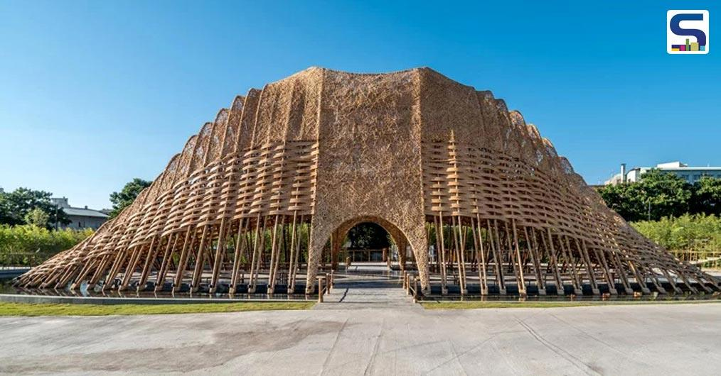 ZUO studio has created a 'Bamboo Pavilion' exhibition hall in Taichung, which is known as the industrial city of Taiwan.