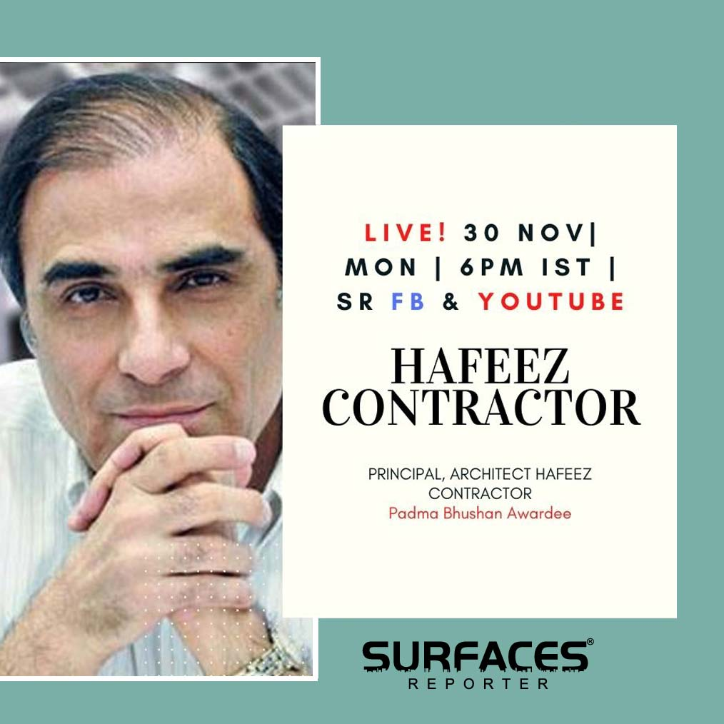 WATCH Hafeez Contractor on SURFACES REPORTER FB LIVE