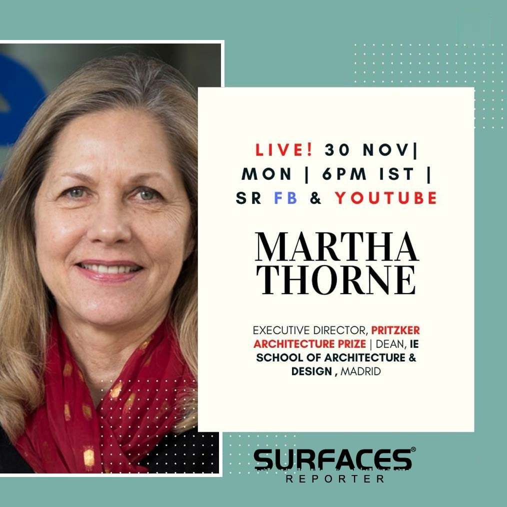 WATCH Martha Thorne on SURFACES REPORTER FB LIVE