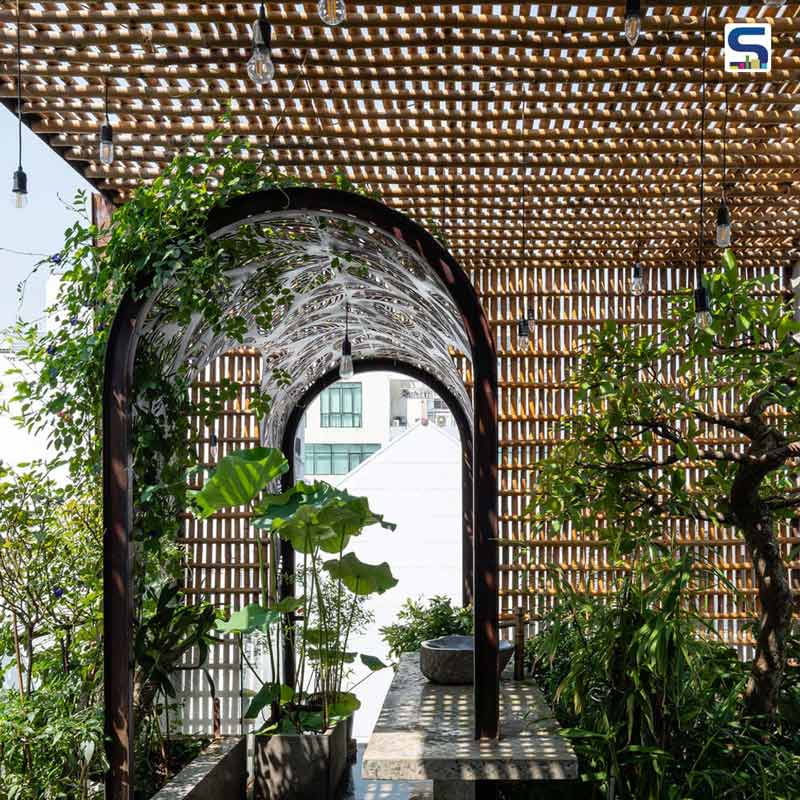 Vietnamese Architect Transforms A Narrow Plot Into A Beautiful Garden Home With Bamboo Screen Facade And Simple Materials | Floating Nest By Atelier Ngng