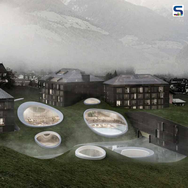 These Submerged Round Organic Forms Will Be A Part of A Hotel Extension In Italy