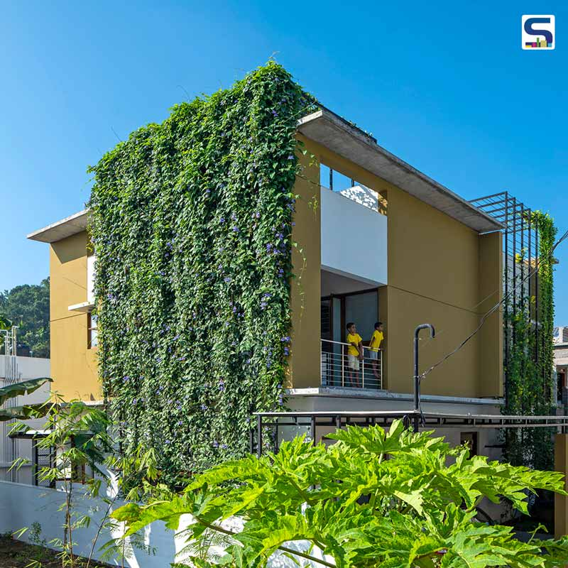 Climbing Plants Feature The Facade of This House That Rains Light in Kerala | LIJO.RENY.architects
